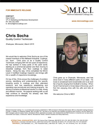 Thumbnail- Press Release Chris Socha