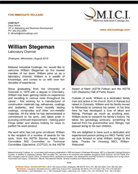 Press Release William Stegeman Thumbnail